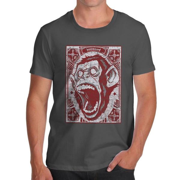Men's Premium Cotton Cartoon Screaming Monkey Print New Man Design T-Shirt Print