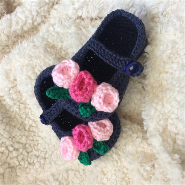 QYFLYXUE- Kostenloser Versand rochet Babyschuhe, Baby weißen Bogen Flip Flops, häkeln Kleinkind Schuhe