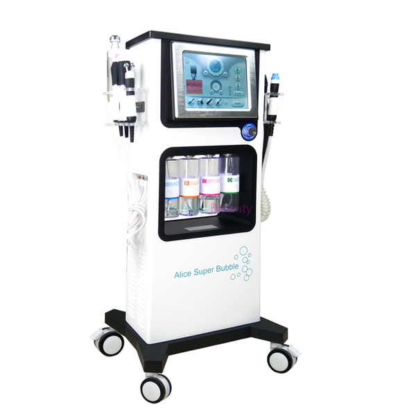 New 7 in 1 oxygen water machine CO2 Bubble Facial Cleaning Hydra facial oxygen spray gun hydro dermabrasion led light therapy machine