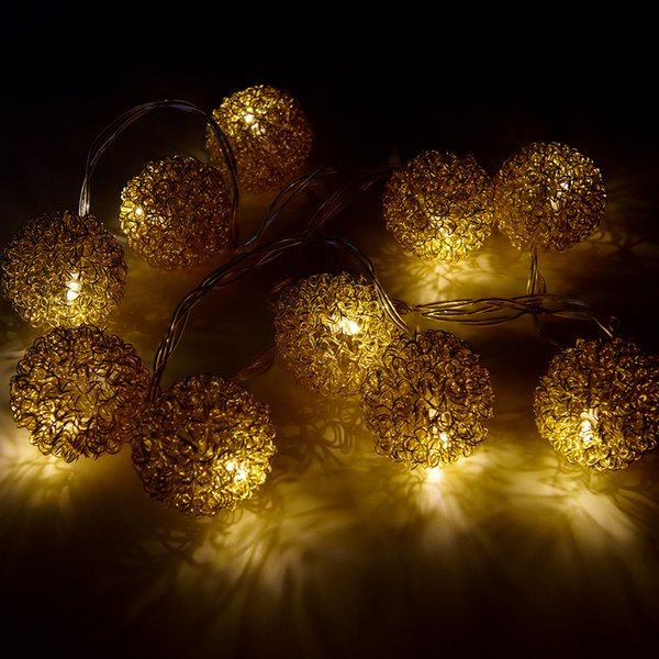 gold led christmas lights coupons wholesale 10 led gold lamp string wire ball lights