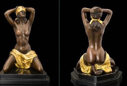 free Beautiful Art Decoration Abstract Figure Bronze Statue fast