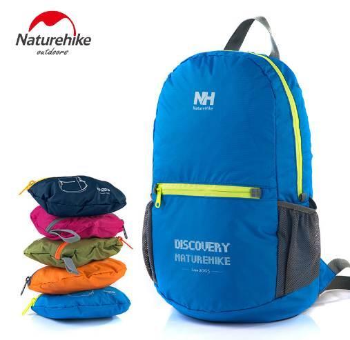 Naturehike 15L Foldable Laptop Backpack Portable Rainproof Ultralight Bright 5 Colors Men Woman Travel Hiking Climbin Bag 15L