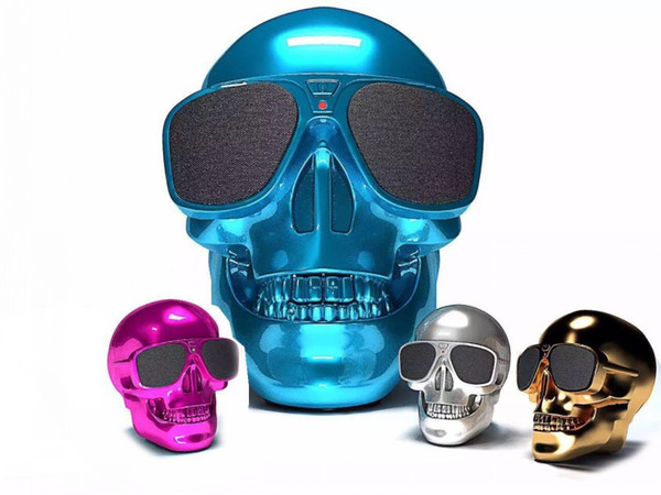 New Skull Bluetooth Speakers Skull Head Ghost Wireless Stereo Subwoofer Mega Bass 3D Stereo Hand-free Audio Player Mini Speaker