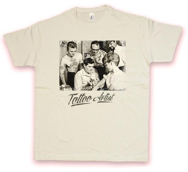TATTOO ARTIST HC HATE COUTURE T-SHIRT Machine Studio Vintage Gun Flash T Shirt Funny free shipping Unisex Casual