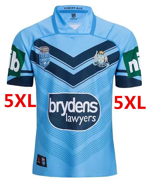 NRL National Rugby League NSW STATE OF ORIGIN 2018 ELITE TRAINING TEE LIGHT BLUE NSW SOO 2018 JERSEY Rugby size S-M-L-XL-XXL-3XL-5XL
