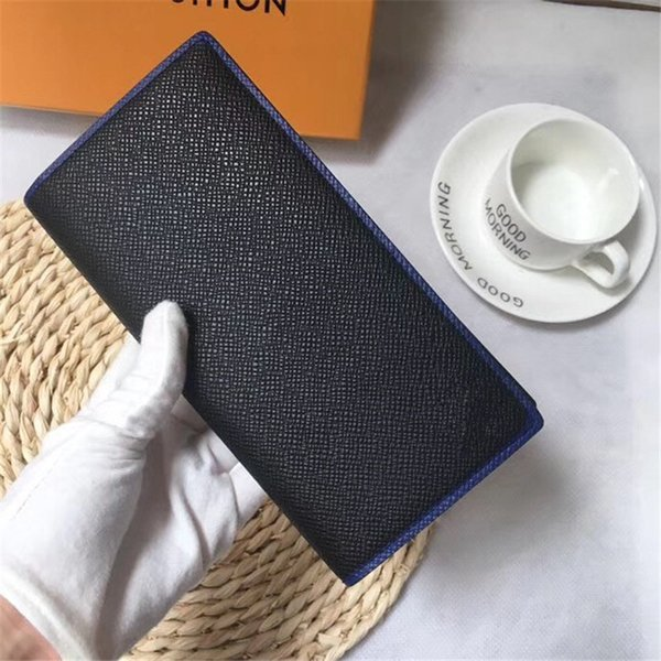 Famous Brand Luxury Black High Quality Leather Long Cover Mens Women Wallets Fashion Bags Designer Card Holders 19x10cm Wallets