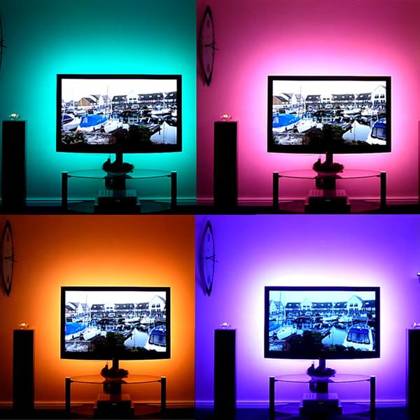 1M-5M DC 5V RVB Flexible USB led bande lumineuse 5050 SMD piqûre IP20 Ruban Adhésif Ruban TV éclairage de fond