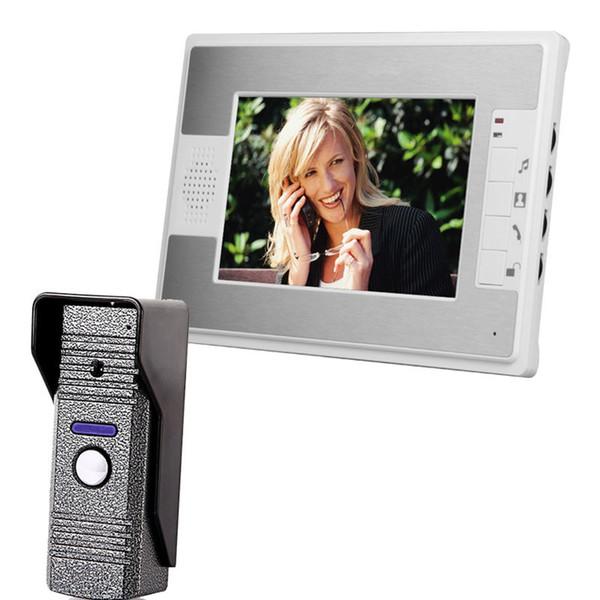 Video Door Phone 7 inch Apartment Video Intercom Doorbell Security System IR Camera