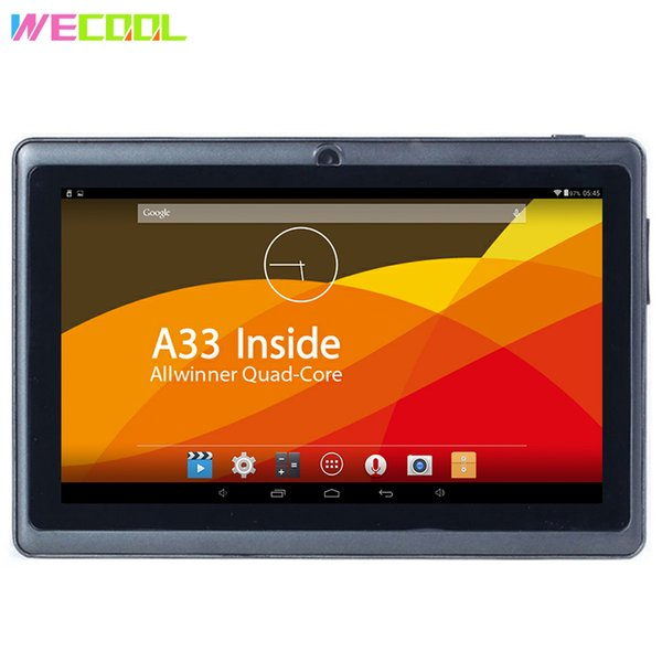 7 inch WeCool Q88 HD Screen Tablet PC Allwinner A33 Quad Core CPU Android 4.4 OS 8GB Memory Dual Cameras Super TFT WIFI MID