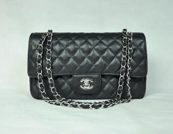 1112 black ball pattern silver chain (red) Real Caviar Lambskin Le Boy Chain Flap Bag HANDBAGS SHOULDER MESSENGER BAGS TOTES