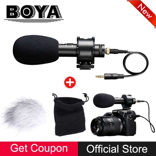 BOYA BY-PVM50 Professional Stereo X/Y Condenser Microphone for Canon Nikon Sony Panasonic DSLR Camera Camcorder Audio Recorder