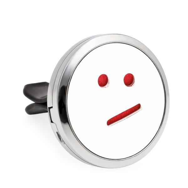 10pcs / lot plus d'options emoji désodorisants de voiture 30mm huile essentielle parfum parfum voiture diffuseur évent clip 100p tampons d'huile libre