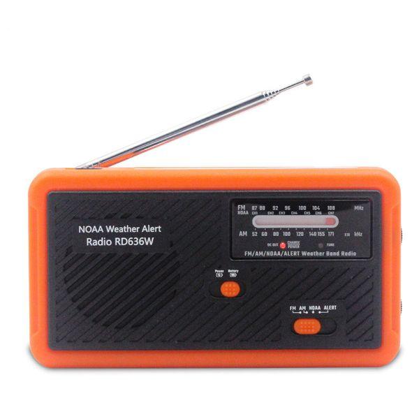 NOAA Weather Radio with Alarm Multifunctional Hand Solar Crank Dynamo AM/FM/NOAA Weather Radio Use Emergency LED Lightflash Outdoor