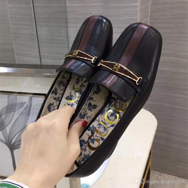 New autumn new chain flat shoes round toes stitching retro color casual shoes fashion Korean women singles shoes size 35-40