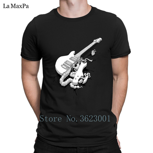 Character Slim T Shirt For Men Not-So-Solid-Body Guitar Type T-Shirt Mens Solid Color Tshirt Branded Men Tee Shirt O Neck Cheap