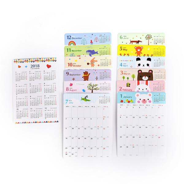 Acheter 13sheet Livre De Dessin Anime Mignon Idees De Cadeaux Plan Du Site Calendriers De Kawaii Efforts Plan Livre Etudiants Fournitures De Bureau De