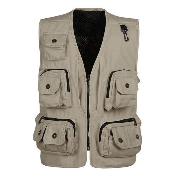 Brand Designer Men Vests Famous Brand Reporter Director Vest Topwear Mens Vest Black Green Camouflage Tactical Vests Mens S954