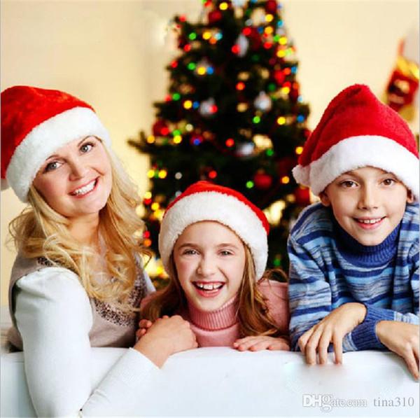 Рождественские шляпы Pleuche шляпы Санта шапки с Рождеством Санта-Клаус шляпы CAP DHL бесплатная доставка B0887