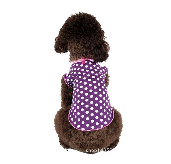Fashion Pet Dog T Shirt Summer Dog cartoon vest Clothes Cotton Puppy Vest Cute Pet dog T shirt Clothing Size S