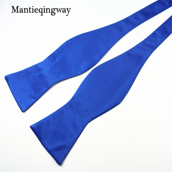 Mantieqingway New Brand Tie Women Mens Bowties Solid Color Polyester Self Tie Bow Ties for Men Wedding Gravatas Noeud Papillon