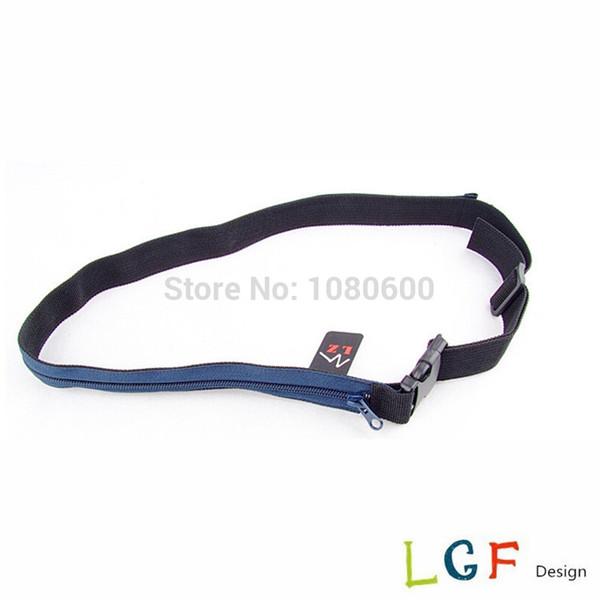 wholesale 3cm travel fabric web Security Travel Waist Hidden Money zipper Belt