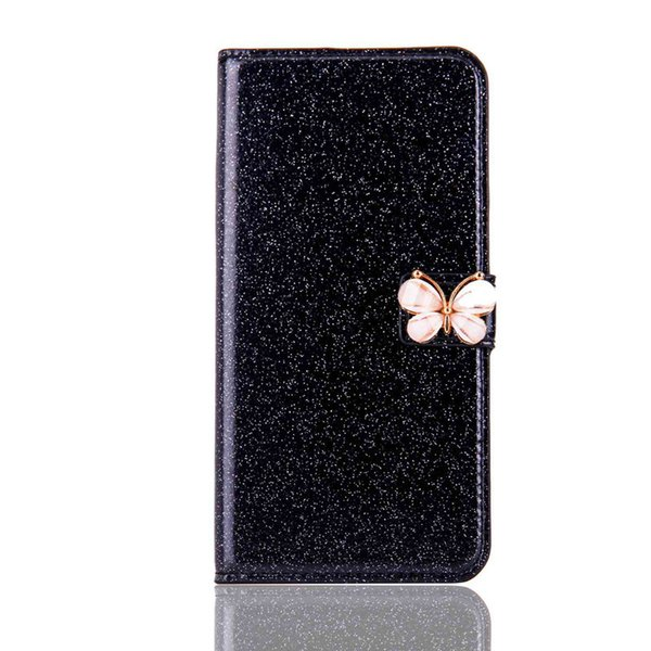Wholesale Glitter Shine and Butterfly Case For Huawei P20 Pro P20 Lite P20 Mate10 Pro P10 Lite Card Holder Wallet Case for Cellphone