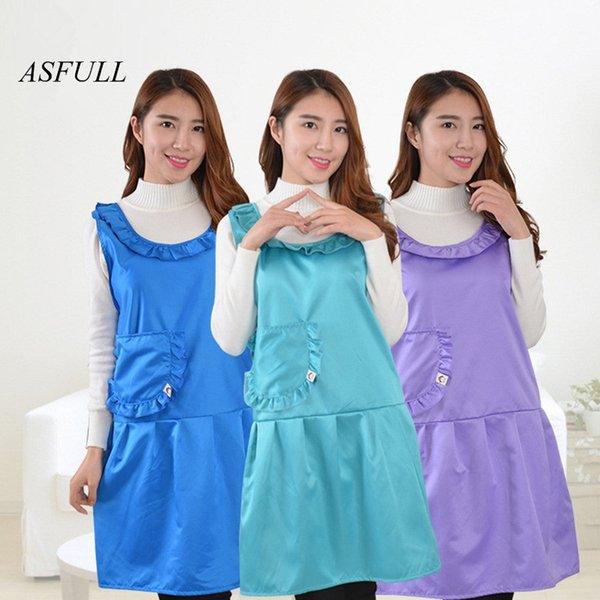 ASFULL 2017 new Korean style apron work clothes kitchen supplies household items waterproof aprons kitchen aprons Free shipping