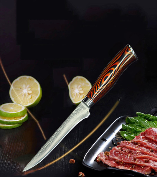 2018 Ceramic Knife Set 5.5 Inch Damascus Japanese Chef Knife 67 Layer Steels Cut Vegetable Practical Ergonomic Kitchen Wood Handle By XINGYI
