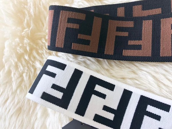 New Luxury Brand Women Head Scarf Echarpes Foulards Cachecol Best Quality Designer F style Elastic Headband Hair Bands for Men and Women