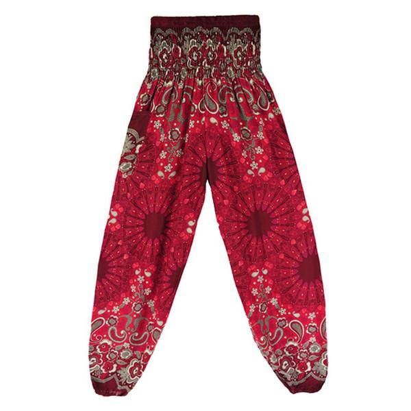 Loose Type 2018 New Thailand Mandala High-waisted Bohemia Knickerbocker Female Summer Loose Yoga Pants