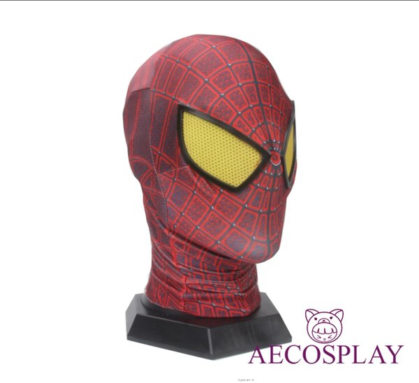 2018 the Amazing SpiderMan Fabric Adult Costume Mask lenses lens one size fits most