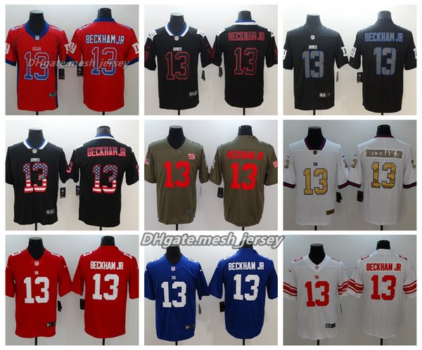best loved 16ae2 1775e 2019 Men New York Jersey Giants 13 Odell Beckham Jr Color Rush Football  Stitching Jerseys Embroidery Logo Red Gray Black White Blue From Opojersey,  ...