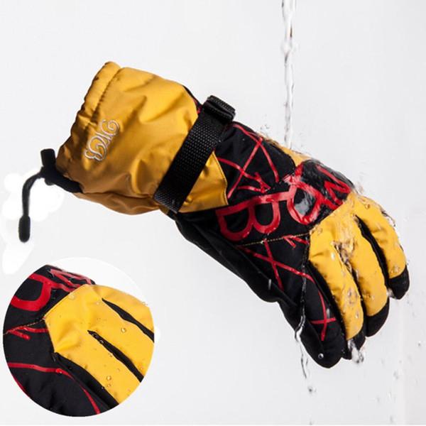 ISHOWTIENDA hembra hombre Invierno Cálido Impermeable A Prueba de Viento Nieve Snowboard Esquí Deportes Guantes guantes moto invierno # w30