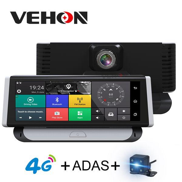 "VEHON 4G ADAS Car DVR Camera GPS 7.84"" Android 5.1 Dashcam Registrar Full HD 1080P Video Recorder Dual Lens dvrs Gps Navigation"