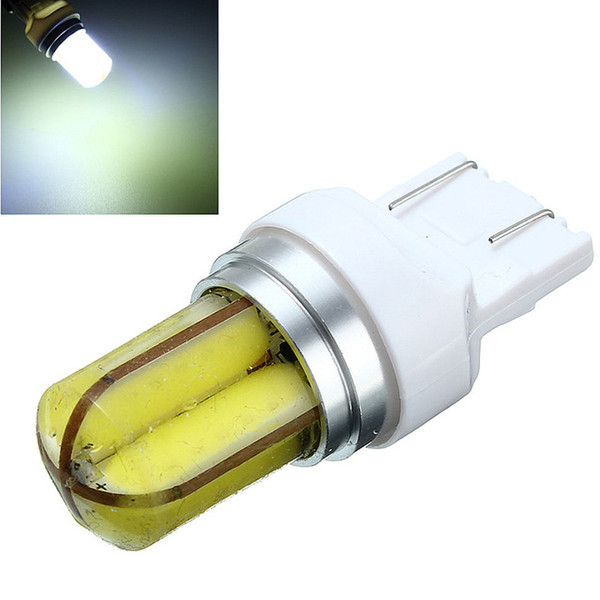 2pcs LED Car Light Bulb Super Bright 360 Grados COB Gel de sílice T20 W21W 7440 Auto Car Lights Lamp
