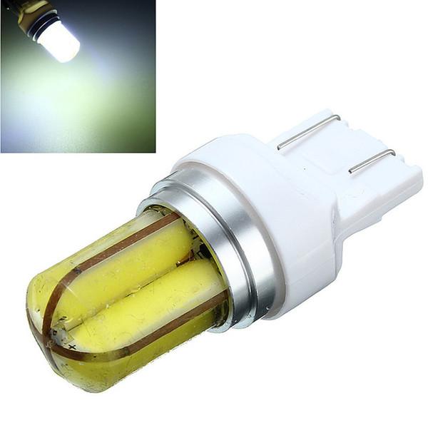 2pcs LED Car Light Bulb Super Luminoso 360 gradi COB Gel di silice T20 W21W 7440 Auto Car Lights Lampada