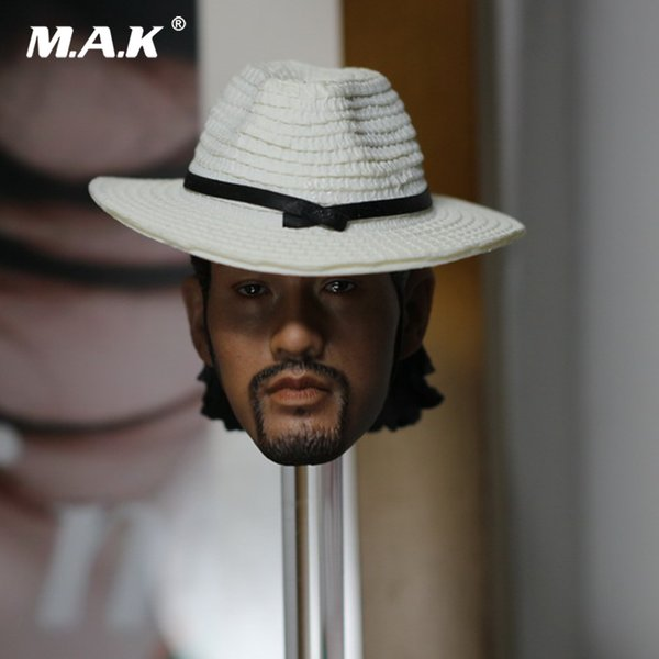 1/6 Scale Male Head Carved Kung Fu Danny Kwok Kwan Chan Rogue Scorpion Mix with Hat and Ax Model Toys for 12'' Figure Accessory