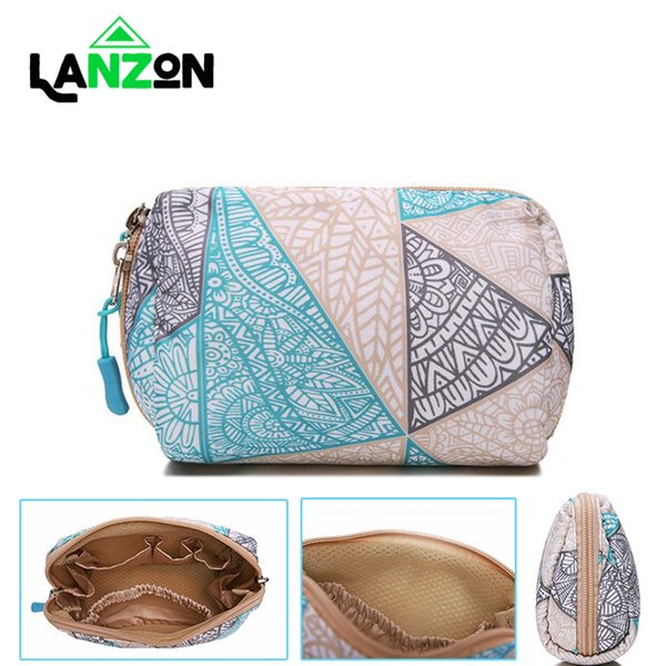 Lanzon Multi-function Storage Bag Waterproof Shockproof Digital Cable USB Charger Make Up Organizer Cosmetic Accessories Bags