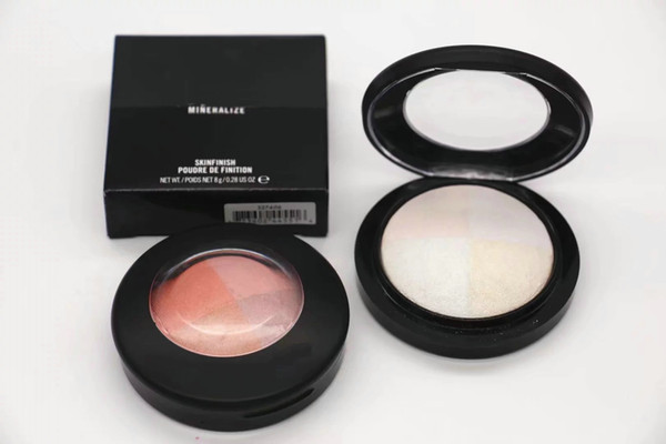 1pcs New Arrival Makeup mineralize skin finish Powder highlighter Mixed Colors Face Powder Hiquality Quality