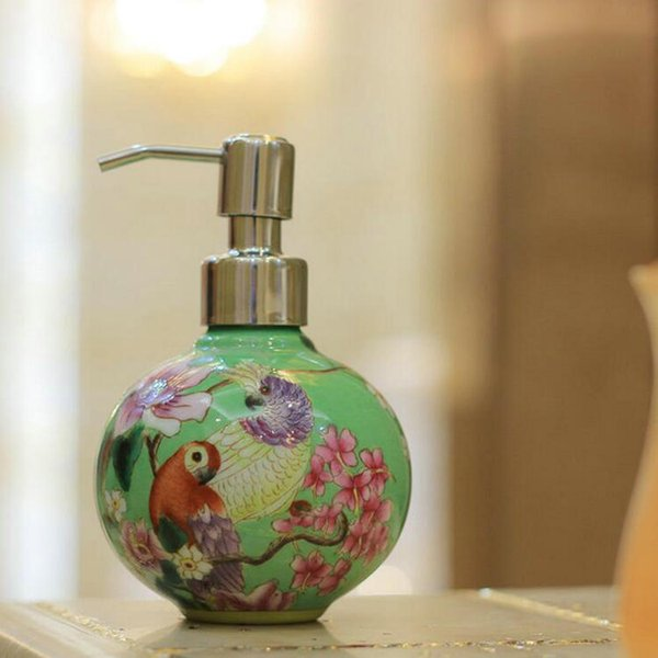 Spedizione gratuita JI-253 Delicato piccolo dipinto a mano in porcellana Dispenser Decorazione della casa Vintage da collezione in porcellana Dispenser di sapone