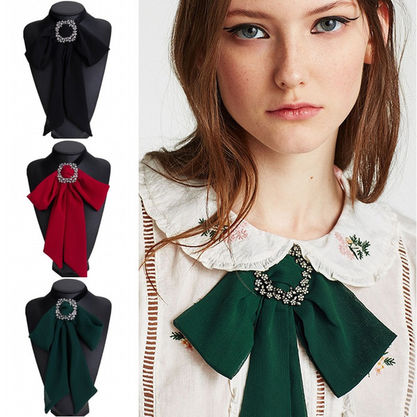 3 Colors Chiffon Cloth Necklace Bow Tie Bohemia Red Velvet Choker Party Collar Jewelry For Women Girls Gift Support FBA Drop Shipping H414R