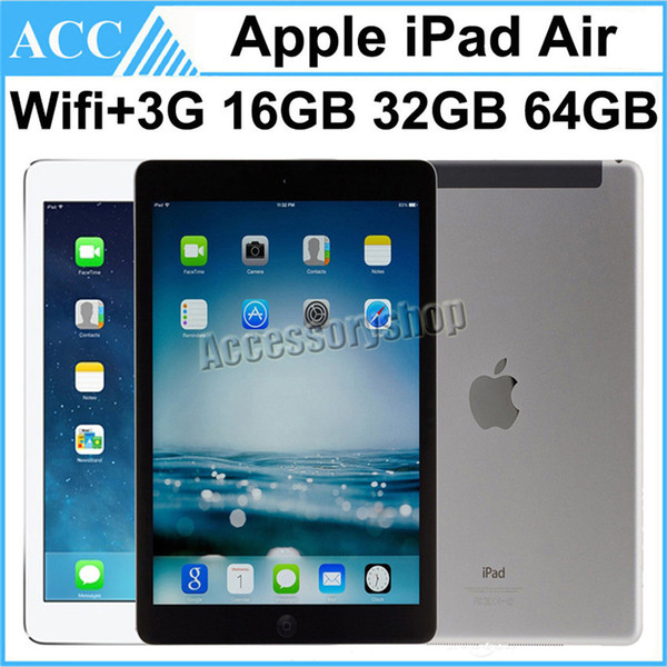 top popular Refurbished Original Apple iPad Air iPad 5 WIFI + 3G Cellular 16GB 32GB 64GB 128GB 9.7 inch Retina IOS Dual Core A7 Chipset Tablet PC 1pcs 2020