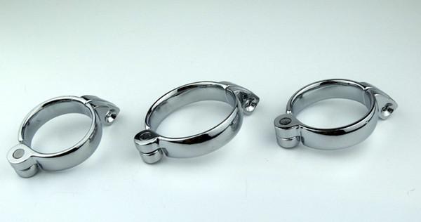 1 PC Adulte fournitures décalé jouets en acier inoxydable fermoir de ceinture de chasteté masculine, anneau de coq, anneau de manchon de pénis pour dispositif de chasteté