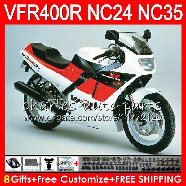 RVF400R For HONDA VFR400 R NC24 V4 VFR400R 87 88 94 95 96 81HM34 RVF VFR 400 R NC35 VFR 400R 1987 1988 1994 1995 1996 Fairings stock black