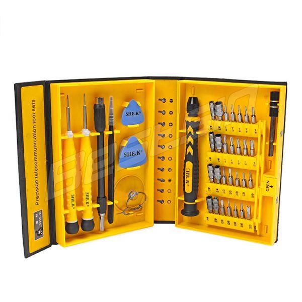 Bestsin 38 en 1 professionnel multi-fonctions outils de réparation Kits outils d'ouverture tournevis outil de réparation de précision pour téléphone mobile