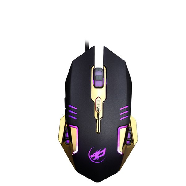 3200 DPI Wired mouse 7Color backlight LED Wired Macro Definition Programming Gaming Mouse Mice A30