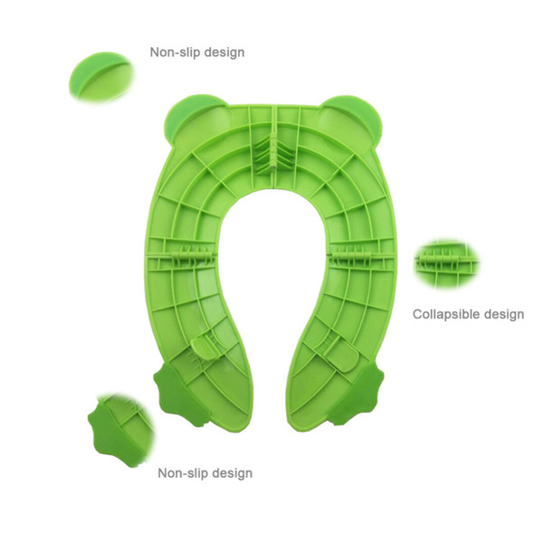 Travel Potty Toilet Potty Training Seat Covers Upgrade Folding Large Non Slip Pads for Baby Toddler Kids Reusable