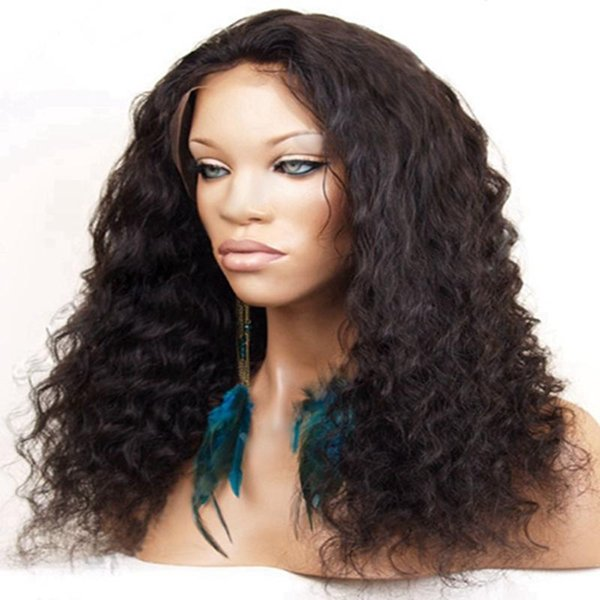 Top 7A Full Lace Human Hair Wigs For Black Women Brazilian Curly Front Lace Wigs Lace Front Human Hair Wigs Baby Hair