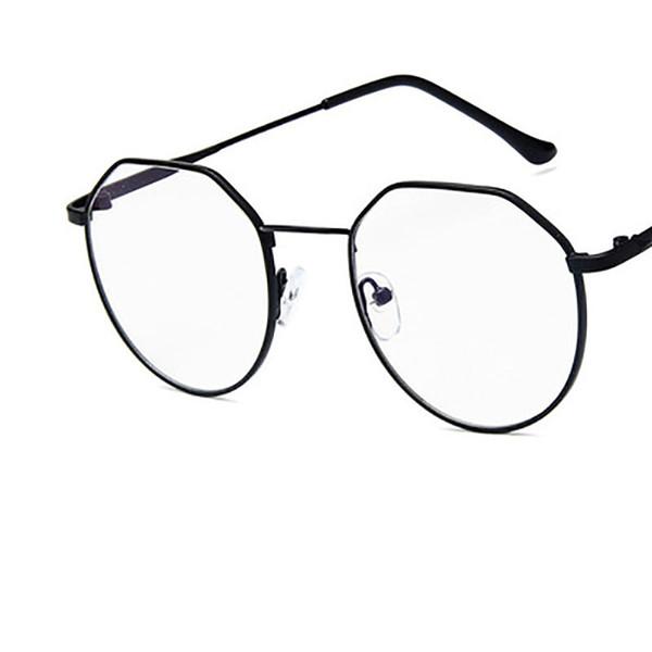 2018 New Polygon Irregular Eyeglasses Flat Mirror Retro Reading Glasses Frame Women Men Metal Glasses Frame for Female Male