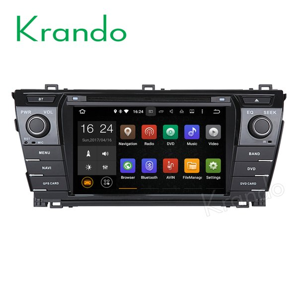 "Krando 7"" Android 7.1 car dvd navigation multimedia system for toyota corolla 2014+ audio radio gps dvd palyer WIFI 3G DAB+"